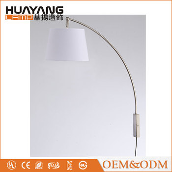 American style simple hotel fabric lampshade adjustable indoor decorative modern wall lamp