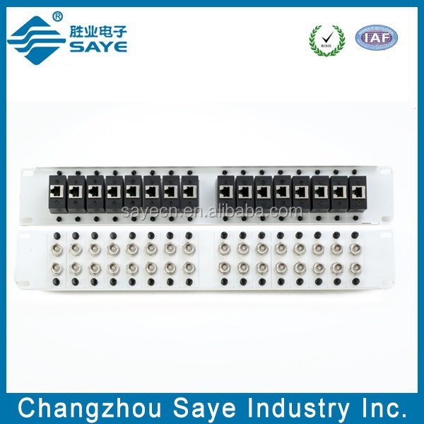 Balun Panel 19 32 Port With 16x Dual BNC(F) To RJ45(F) Balun Box With Knob