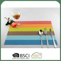 Modern style simple design pvc table mat fast delivery