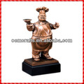 2014 funny resin chef custom Trophy Figurines
