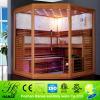 HS-SK013 high quality cedar sauna room,2 person sauna room,luxury finland wood sauna room