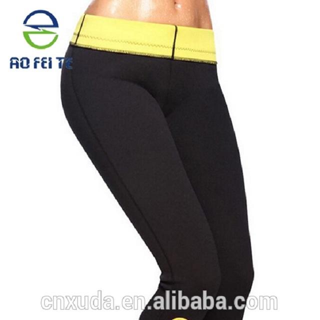 Aofeite Anti cellulite capris Custom Jogger Neoprene hot body Mens shapers Sport Slimming pants