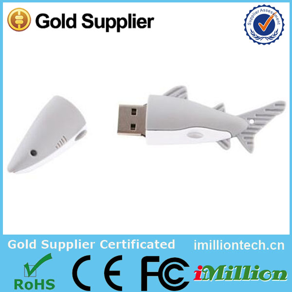 Shark Shape USB 2.0 Flash Drive 3D PVC Shark USB memory