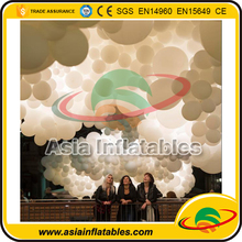 Advertising Inflatable Helium Cloud / Hanging Inflatable LED Cloud Lighting Cloud Balloon for Party