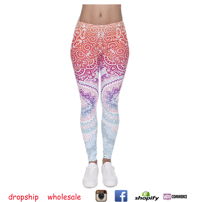 Dropship and Wholesale Hot Sales Print Fitness legging High Elasticity Yoga Pants