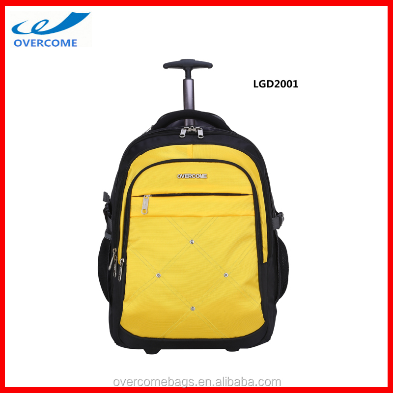 Travel Luggage Rolling Computer Wheel Backpack Simple , Eminent Cheap Trolley Backpack Bag