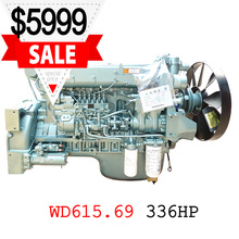HOWO engine WD615.69 engine HOWO truck engine assembly