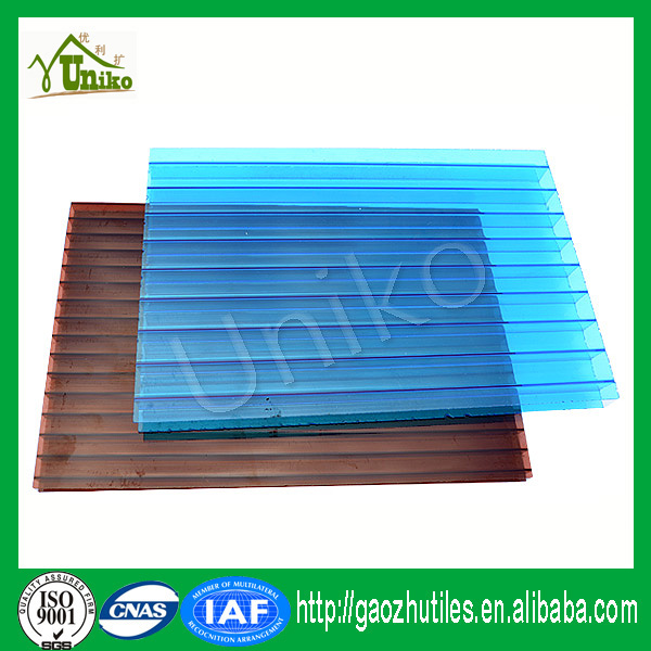 GE lexan uv blocking plastic soundproof anti-drop fire proof sell polycarbonate hollow sheets skylight materials