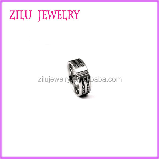 High Quality Stainless Steel Jewelry Hinged Snap Rings Stainless Steel Ring for Men