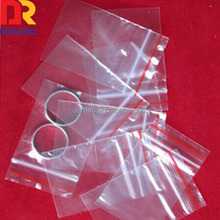 White Clearclear plastic bag with zipper and Hang Hole Plastic Packaging Pouches for apparel/jewelry/cellphone/accessory