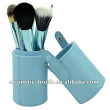 Protalbe Blue Cylinder with 12pcs Cosmetic Makeup Brushes
