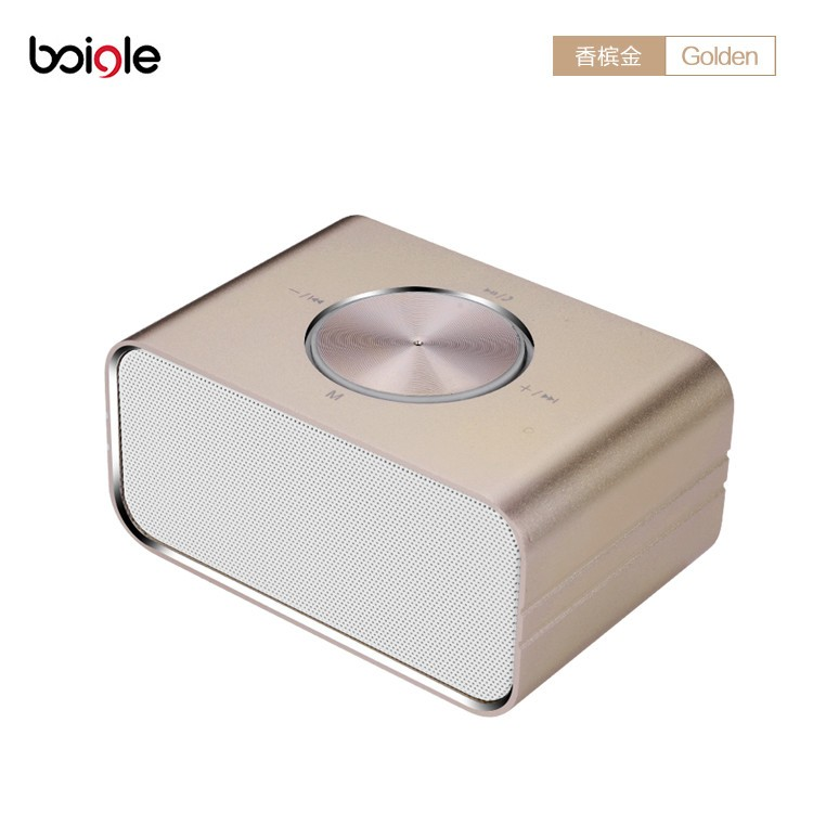 2017 new model metal bluetooth speaker with NFC portable wireless mini usb sd card