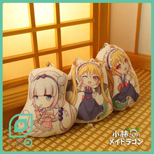 custom print irregular shape phone charm maid dragon key chain anime mini strap