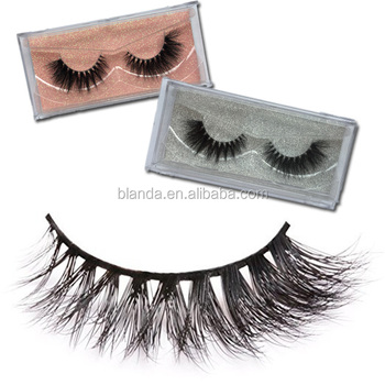 Clear case private label mink eyelashes cruelty free 3d silk eyelashes