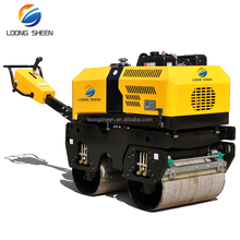 Walk behind 800Kg double drum hydraulic vibratory mini road roller