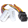 ATX 6pin Molex GPU connector to 2 molex converter cable