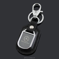 promotional leather keyring with carabiner keychain