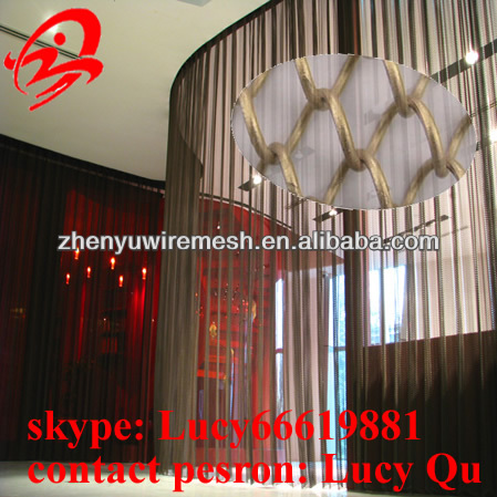 High quality Stainless Steel Mesh Fireplace Screen ( 15 years factory )