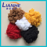 1.4d-3d lemon yellow solution dyed polyester staple fiber recycled grade, spinning fiber, color code material