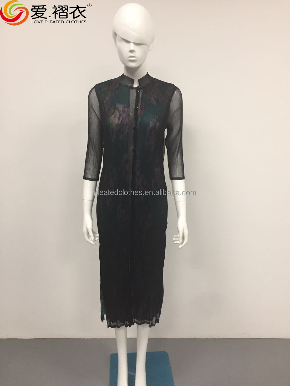 women traditional chinese dress with button pirnt dress clothes elegant