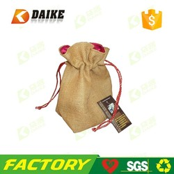 high quality handmade Linen gift bags with Factory direct