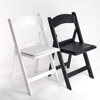 Wholesale Outdoor White Color Resin Folding Wedding Chair