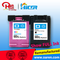 Deskjet printer cartridge directly from factory for Hp 650XL reset chip refilling ink cartridge
