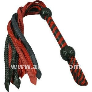 LEATHER FLOGGER BRAIDED