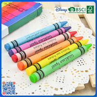 2016 high quality fancy short small size 6 colors wax crayons
