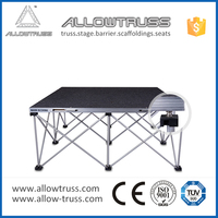 Will not rust concert stage equipment , retractable stage scaffolding