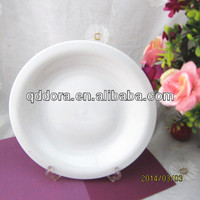 omega shape ceramic plate with golded decal