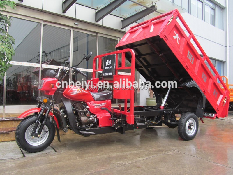 China Hydraulic Dump 3 Wheel Motorcycle With Dump