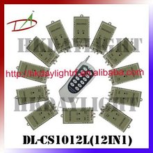 12 in 1 12 single channel relay Wireless Remote Control switch