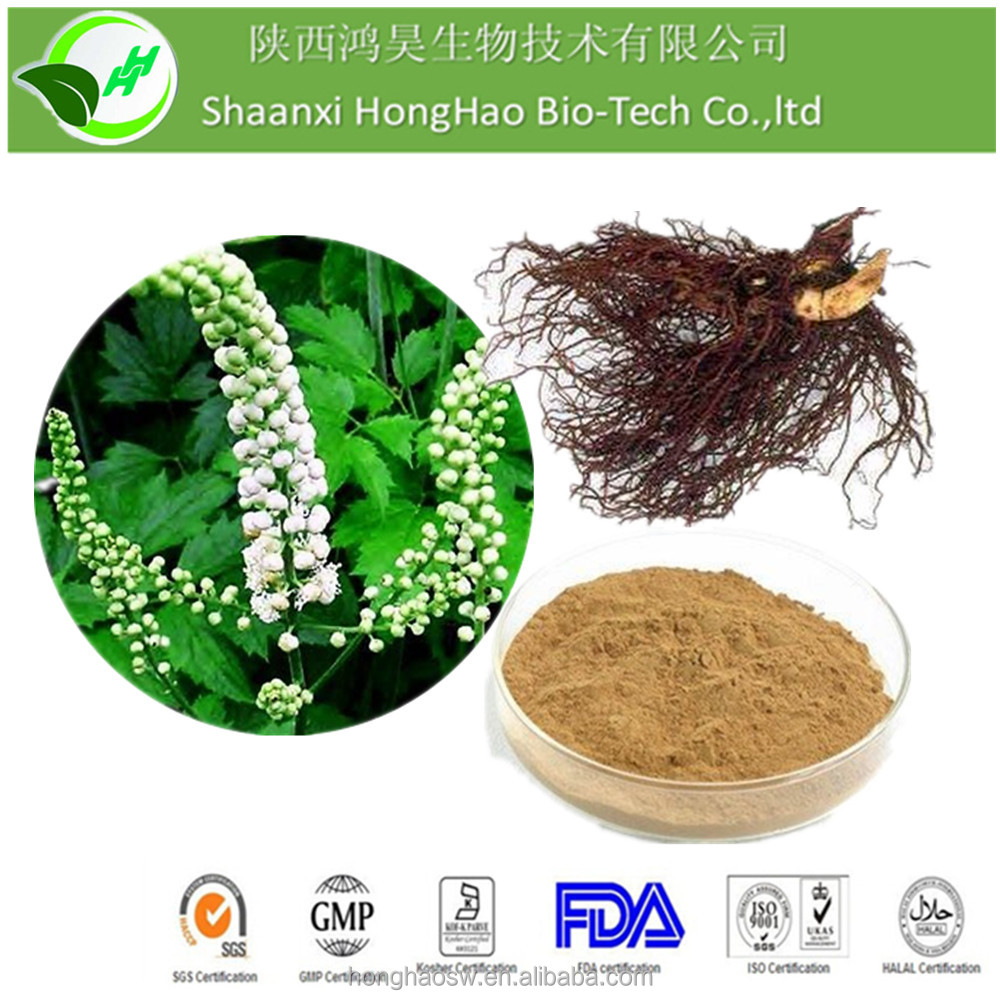 Natural Black Cohosh P.E.Triterpene Glycosides 2.5% 5% 8% HPLC