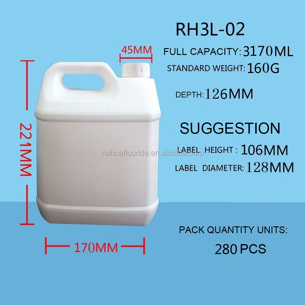 High Quality 3L-02 Fluoride Plastic Bottle for Pesticide