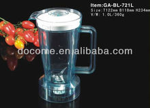 721 plastic blender jar,with lid and base 1000ml capacity