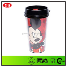 DIY 16 oz double walled travel tumbler with full color paper insert