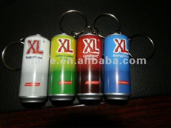 can shaped led keyring light for drinks