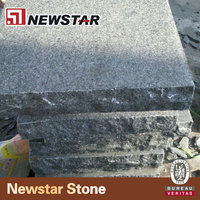Flamed g654 padding dark chinese granite for outdoor paving