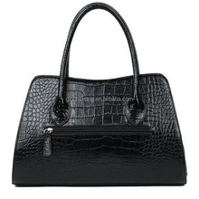 PU leather surface with crocodile skin design very fashion for handbag usage