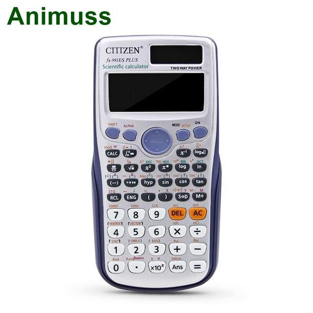 FX991ES PLUS dual power engineering scientific calculator calculadora student college entrance examination with 417 functions