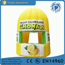 Good Quality Moveable Inflatable Lemonade Stand Booth For Sale