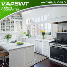Shaker pvc pearl white kitchen cabinets prices