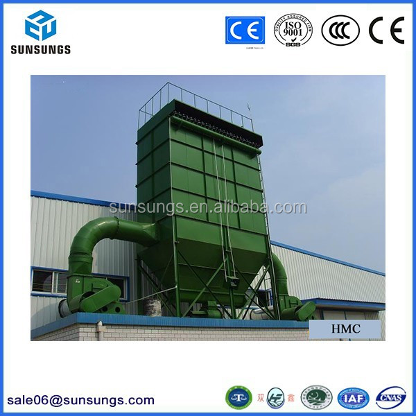Good quality industrial jet pulse dust collector in polyester filter bags