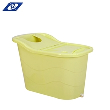 Hot Sale Indoor Freestanding Custom Color movable Plastic portable Cheap bathtub For Adults