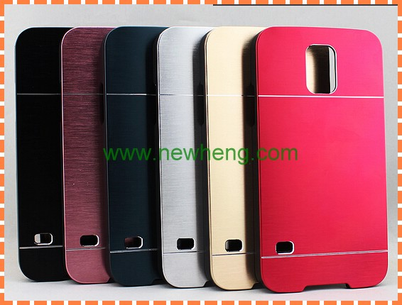 Unique brushed aluminum metal pc hard case for samsung galaxy s5