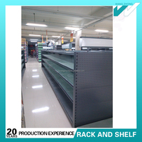 Low price supermarket shelving with light boxes