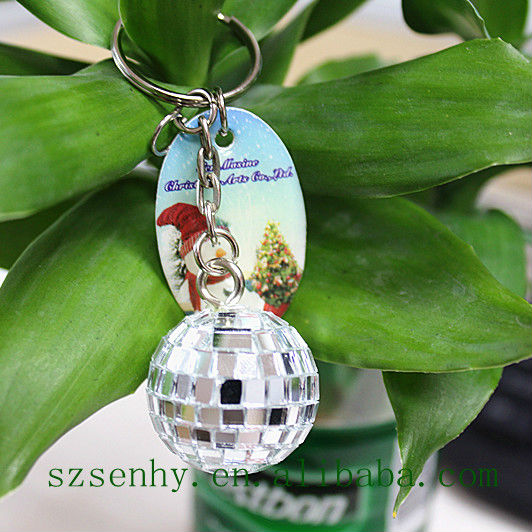 2013 new products promotional item mirror disco ball key chain