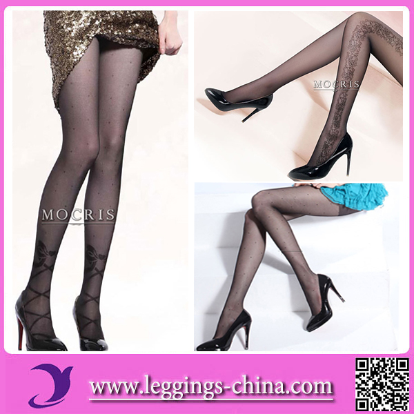 2017 Hot Girls OEM Service Transparent Leggings Pantyhose Nylon
