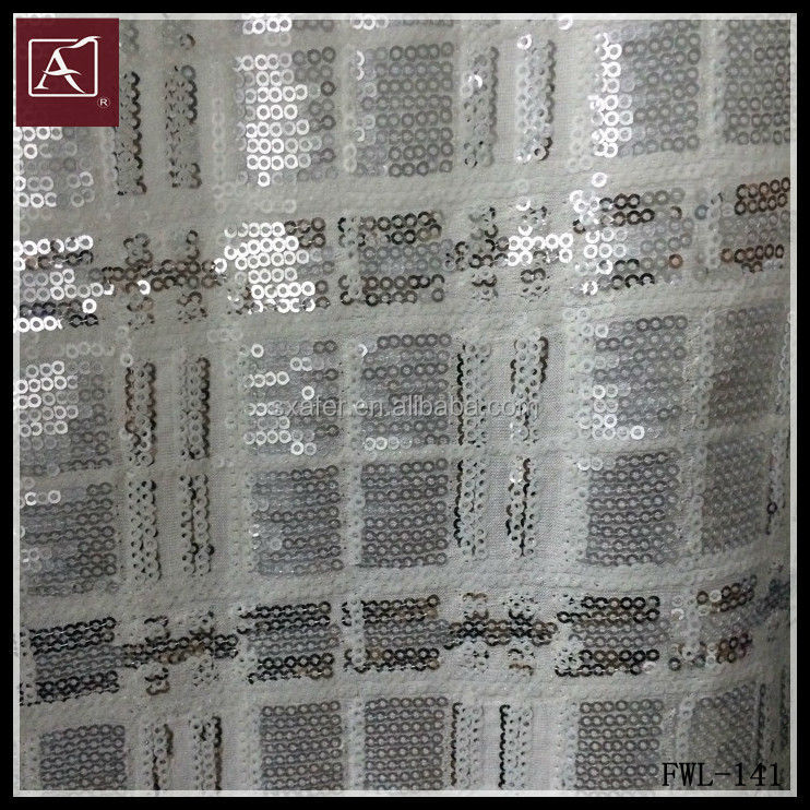 sequin embroidery design of sequin fabrics